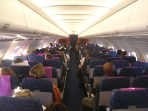 passenger plane interior